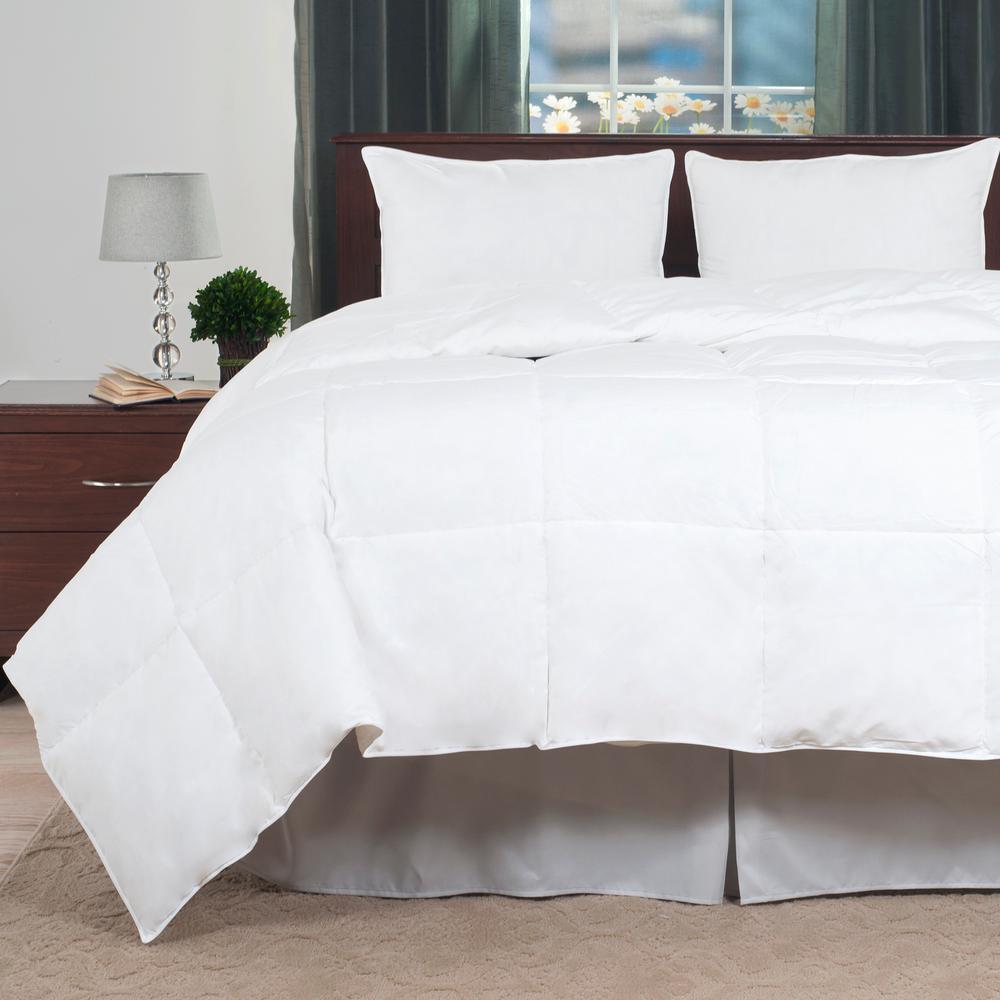 Light Warmth White Queen Duck Down Comforter