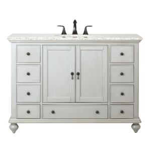 Home Decorators Collection Newport 49 inch W x 21-1/2 inch D Bath Vanity in Pewter with... by Home Decorators Collection
