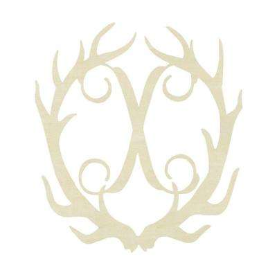 19.5 in. Unfinished Antler Monogram (X)