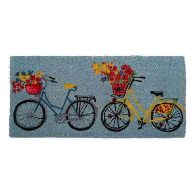 Bike Rider Estate 18 in. x 40 in. Coir Door Mat