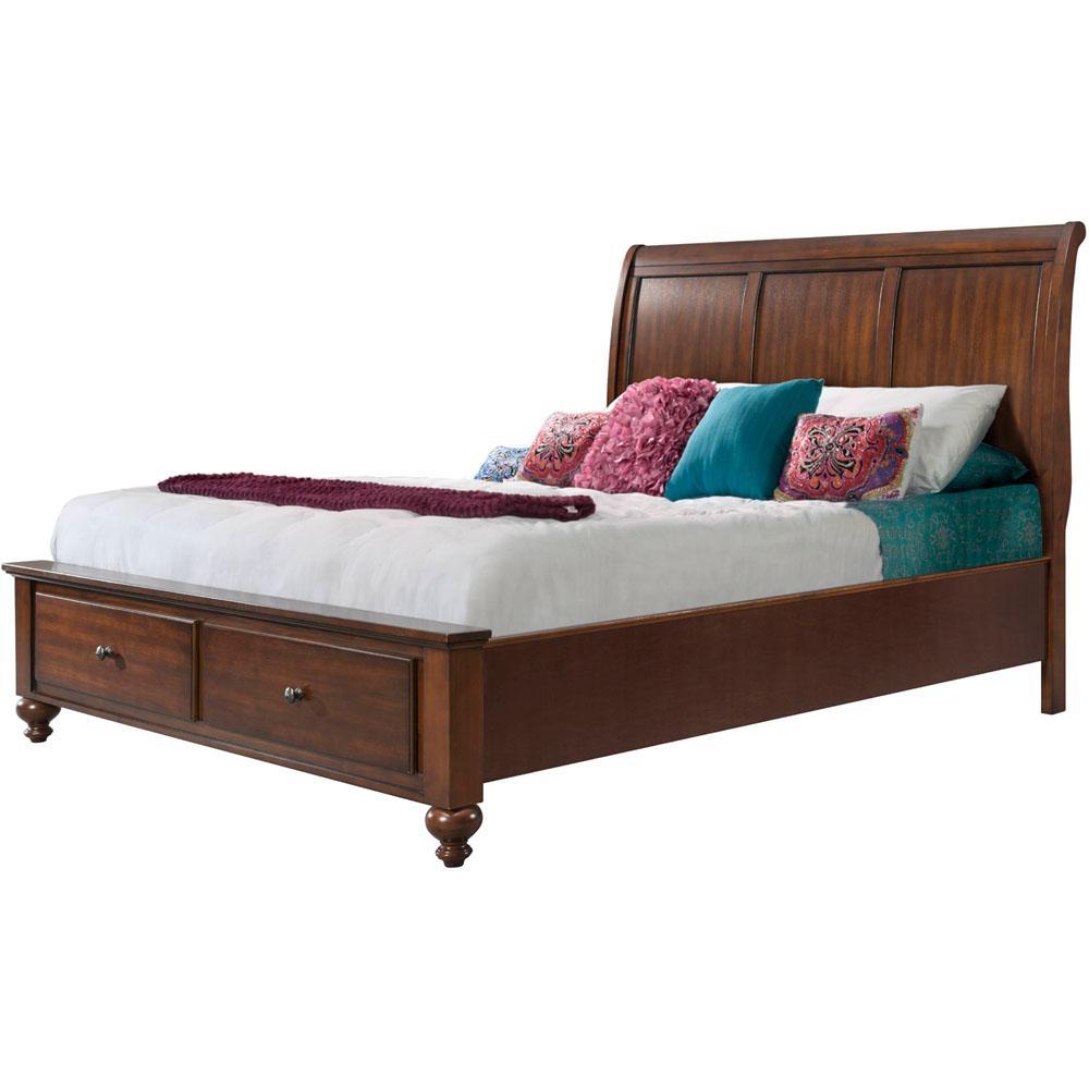 Bed Frame Mounted - Queen - Cherry - Beds & Headboards - Bedroom ...