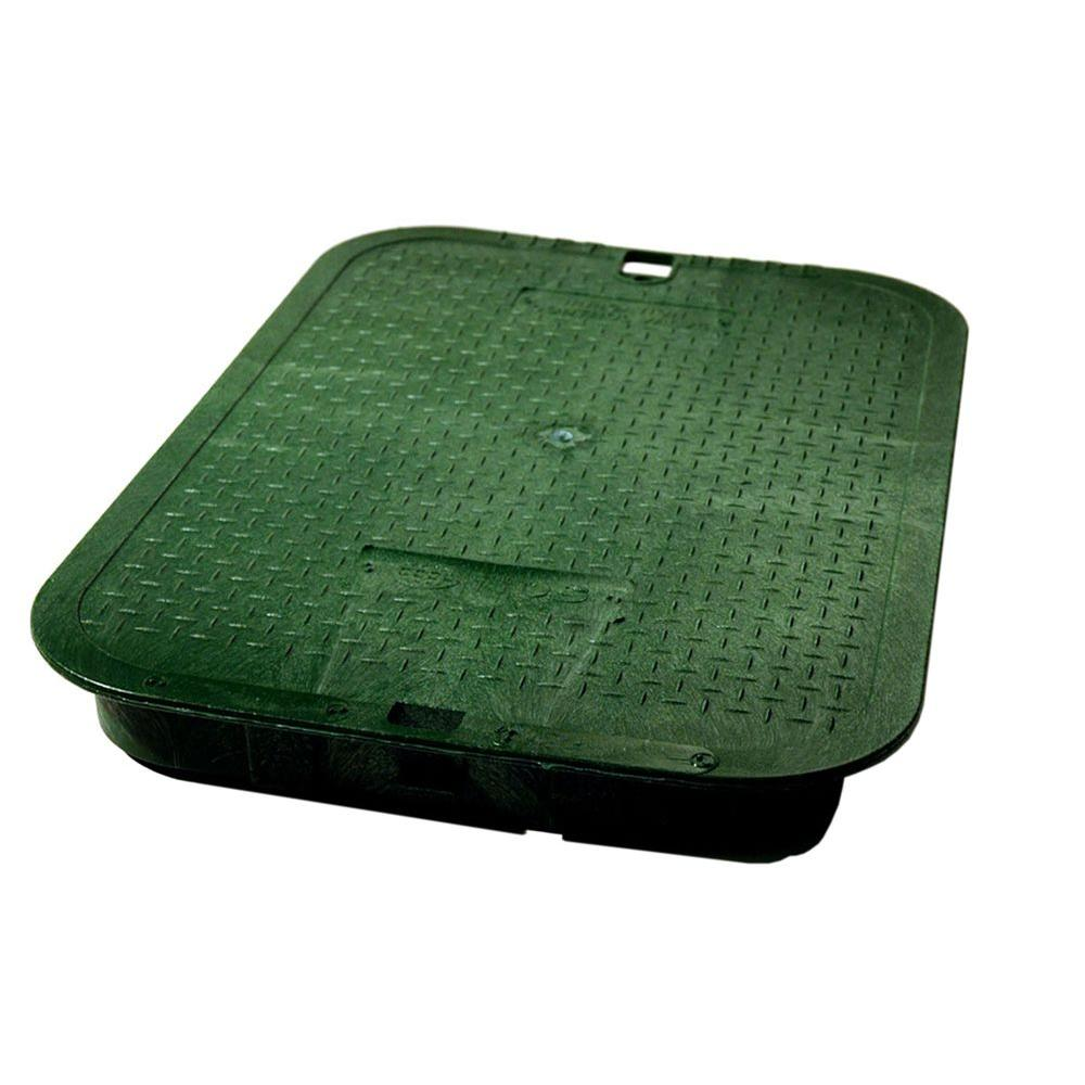 14 in. x 19 in. ICV Green Overlapping Valve Box Cover