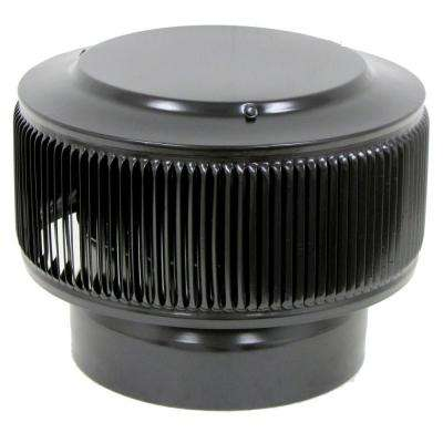 Aura PVC Vent Cap 8 in. Dia Exhaust Vent with Adapter to Fit Over 8 in. PVC Pipe in Black Powder Coat