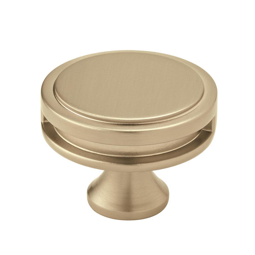 Oberon 1-3/4 in. (44 mm) Dia Golden Champagne Round Cabinet Knob