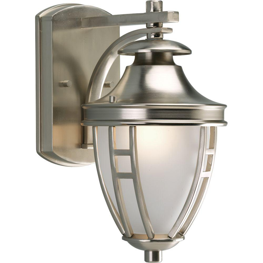 Progress Lighting Fairview Collection Brushed Nickel 1-light Wall Lantern-DISCONTINUED