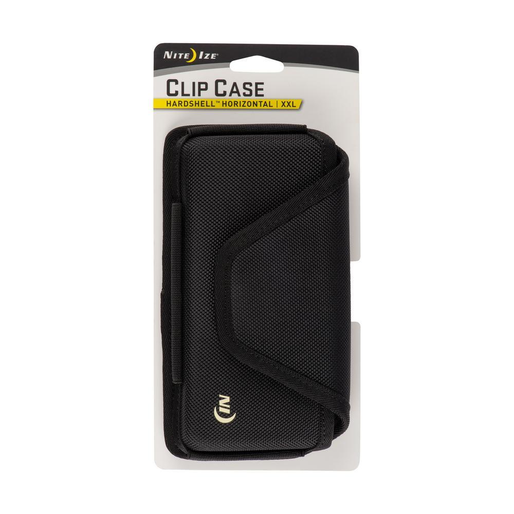 2X-Large Clip Case Hardshell Horizontal Universal Rugged Holster, Black