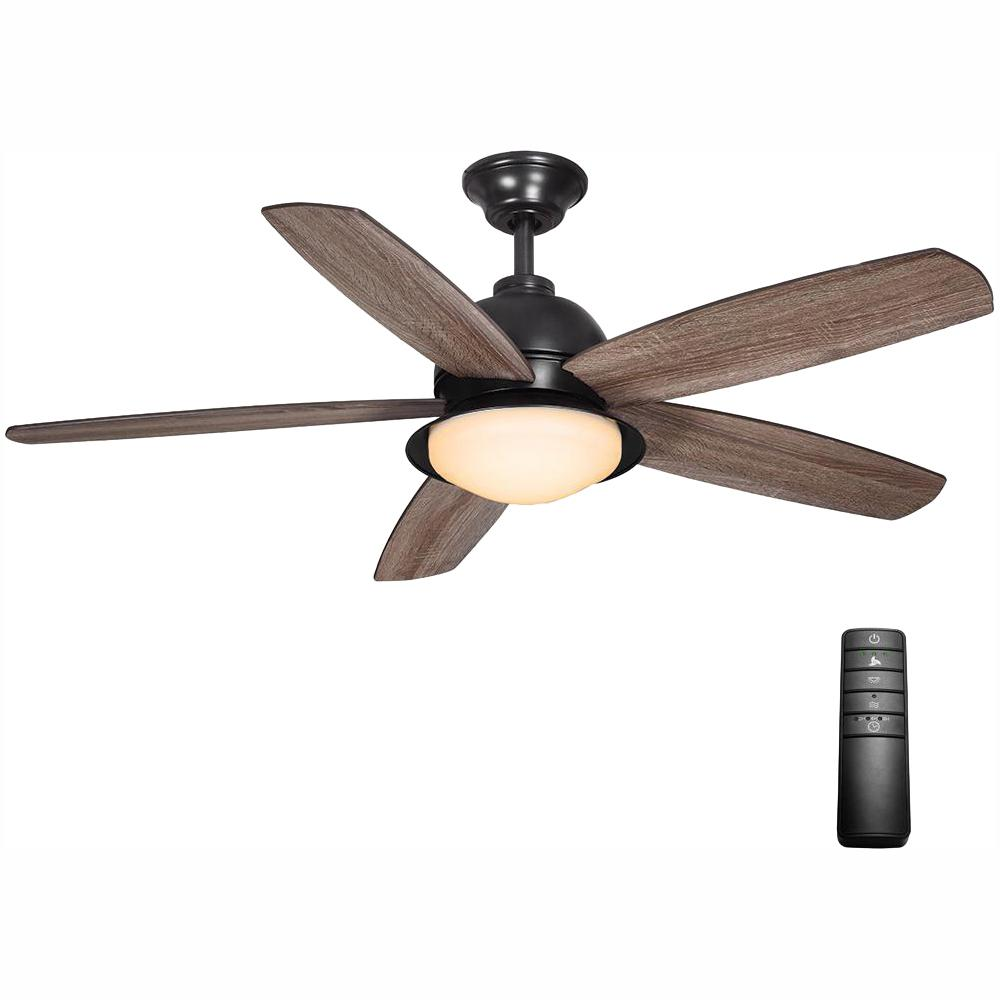 Home Decorators Collection Ackerly 52 in. Integrated LED Indoor/Outdoor Natural Iron Ceiling Fan with Light Kit and Remote Control
