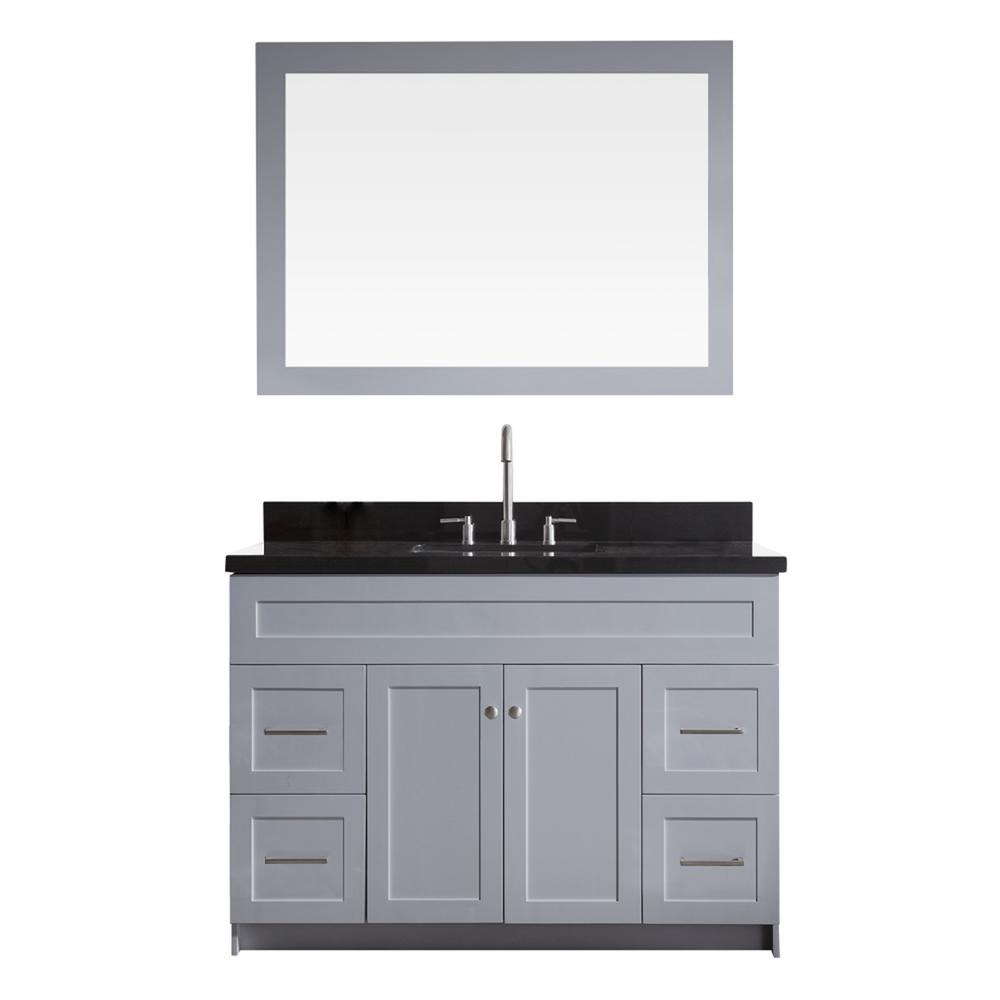 Hamlet 49 in. Bath Vanity in Grey with Granite Vanity Top