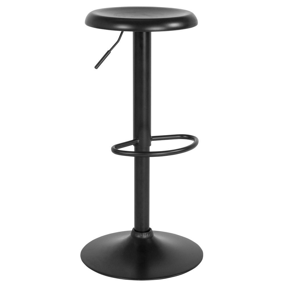 Flash Furniture 31 in. Adjustable Height Black Bar Stool CGA-CH-239624-BL-HD