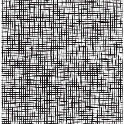 56.4 sq. ft. Shanti Black Grid Wallpaper
