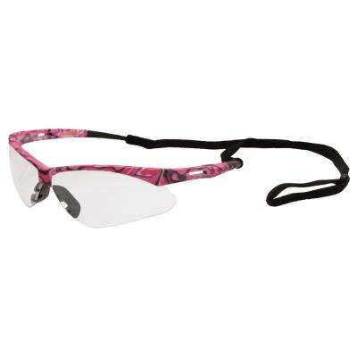 Annie Ladies Eye Protection, Pink Camo/Clear Lens