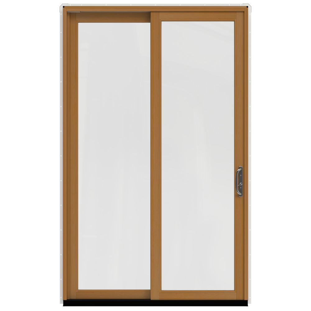 60 in. x 96 in. W-2500 Contemporary White Clad Wood Left-Hand