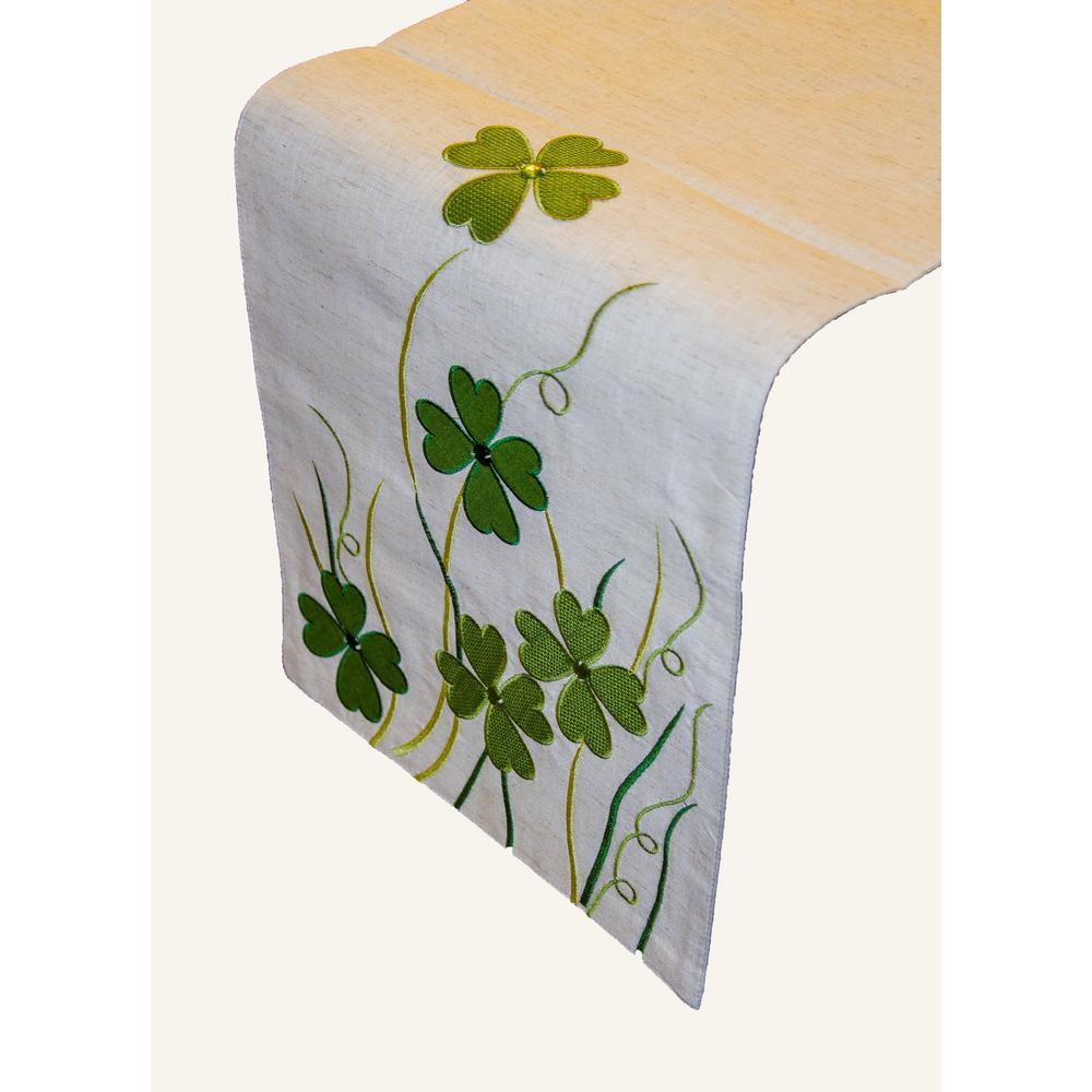 Shamrock Bling 100% Polyester Table Runner