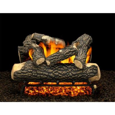 Tahoe Blaze 24 in. Vented Natural Gas Fireplace Logs, Complete Set with Manual Safety Pilot Kit