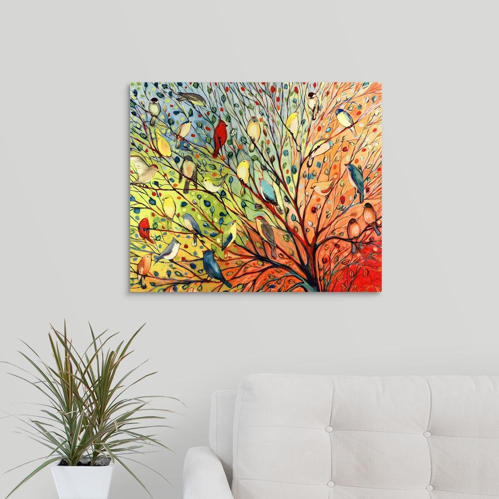 """""""Twenty Seven Birds"""" by Jennifer Lommers Canvas Wall Art"""