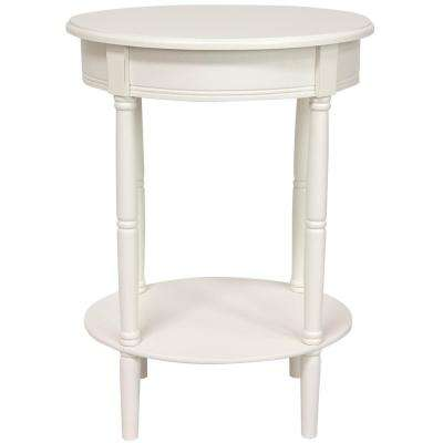 Classic Oval White End Table
