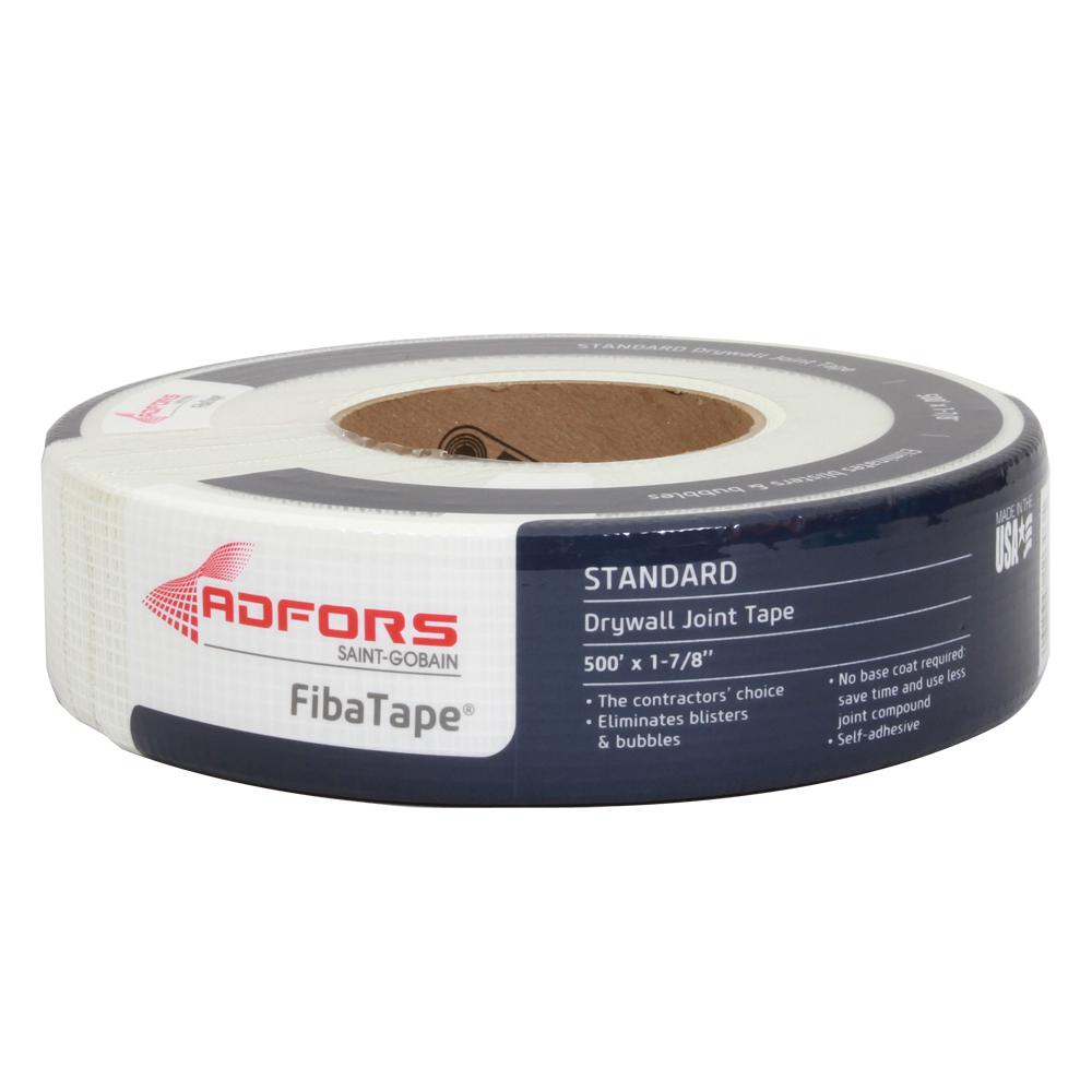 Saint-Gobain ADFORS FibaTape Standard White 1-7/8 in. x 500 ft. Self-Adhesive Mesh Drywall Joint Tape