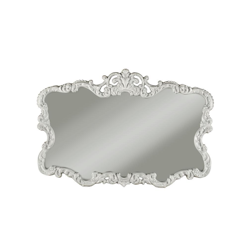 Aureate High Gloss White Wall Mirror