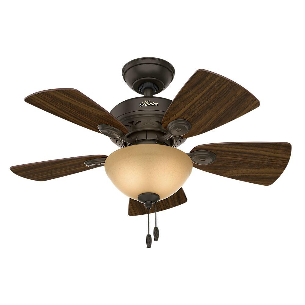 Hunter watson 34 in indoor new bronze ceiling fan with light kit indoor new bronze ceiling fan with light kit aloadofball Images