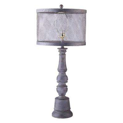 35 in. Gray Table Lamp