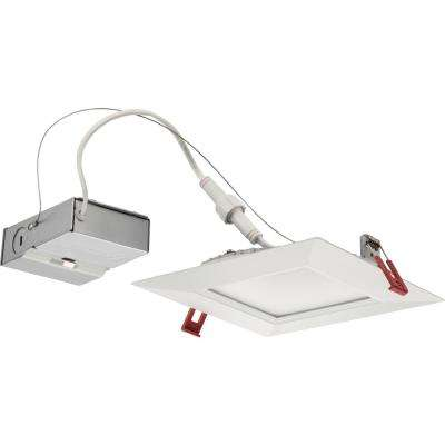 Wafer Square 6 in. White Integrated LED Recessed Kit