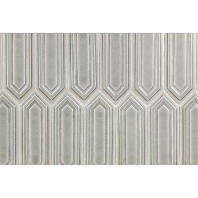 Oracle Grigio Hexagon  9-1/2 in. x 15-1/2 in. 14 mm Glazed Ceramic Mosaic Tile  (1.02 sq. ft.)