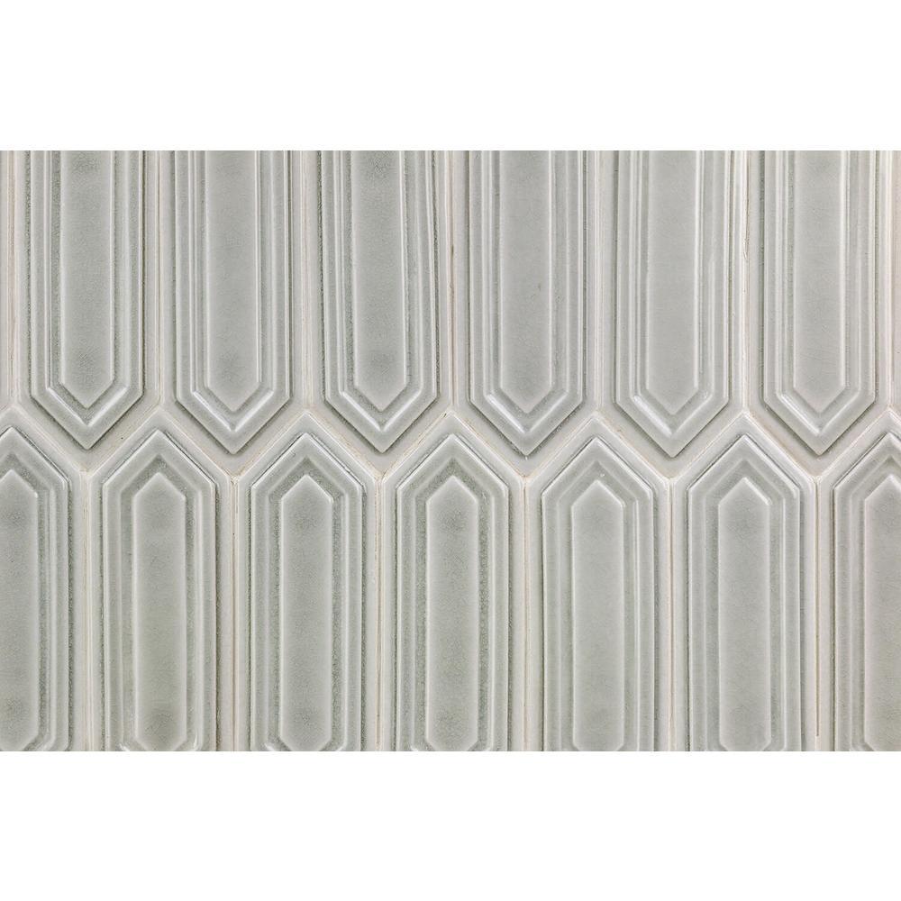 Oracle Grigio Hexagon  9-1/2 in. x 15-1/2 in. 14 mm Glazed Ceramic Mosaic Tile  (1.02 sq. ft.)