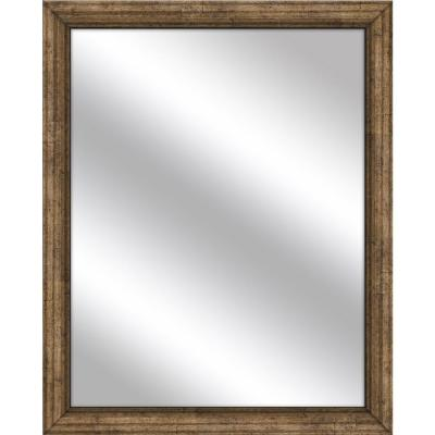 Medium Rectangle Dark Champagne Art Deco Mirror (32.75 in. H x 26.75 in. W)