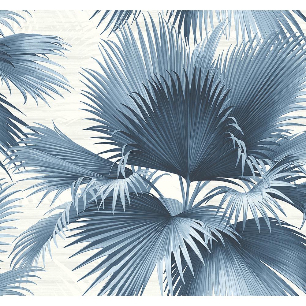 Endless Summer Blue Palm Blue Wallpaper Sample