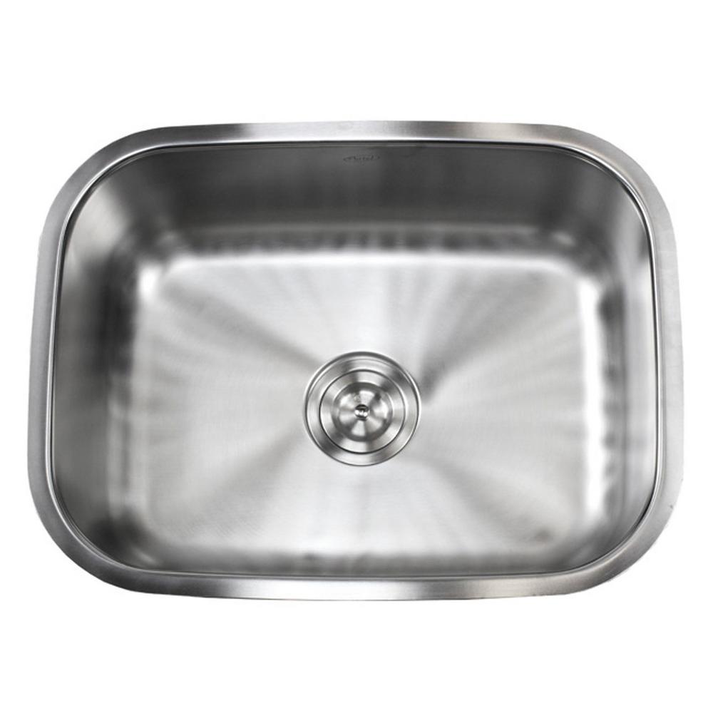 Undermount 16-Gauge Stainless Steel 23-3/8 in. x 17-3/4 in. x 9 in. Single Bowl Kitchen Sink