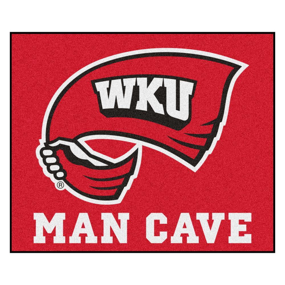 NCAA - Western Kentucky University 5 ft. x 6 ft. Man Cave Tailgater Indoor Area Rug