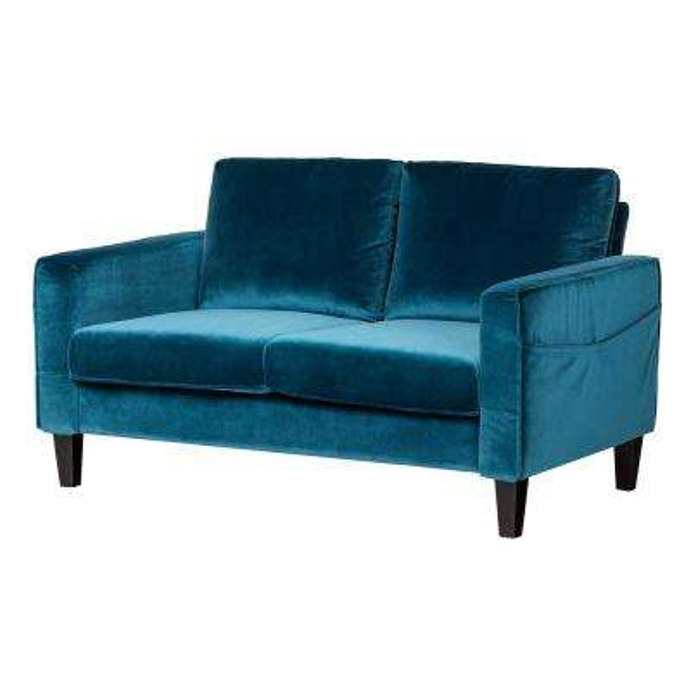 Live-it Cozy 2-Seat, Velvet Blue Sofa