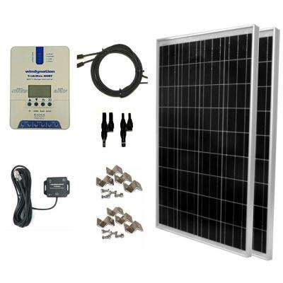 200-Watt Off-Grid Polycrystalline Solar Panel Kit with TrakMaxMPPT 40 Amp Solar Charger Controller and Bluetooth Adapter