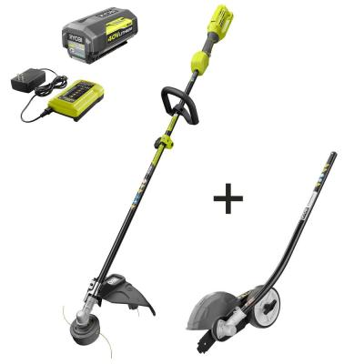 40-Volt Lithium-Ion Cordless Attachment Capable Trimmer/Edger - 4.0 Ah Battery and Charger Included