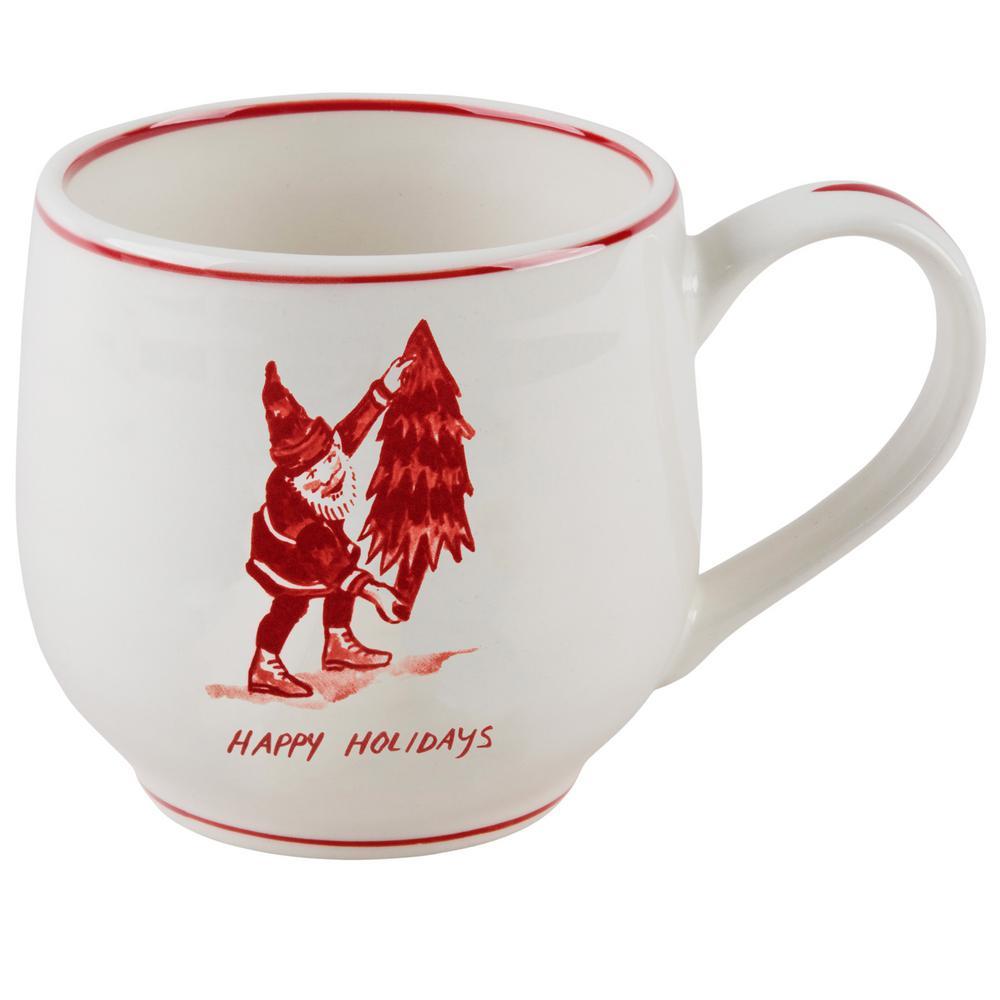 14 oz. Santa and Tree Mug