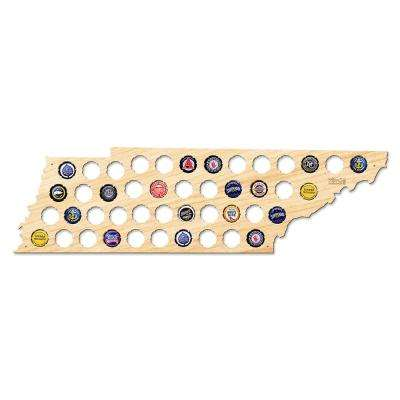 24 in. x 7 in. Large Tennessee Beer Cap Map