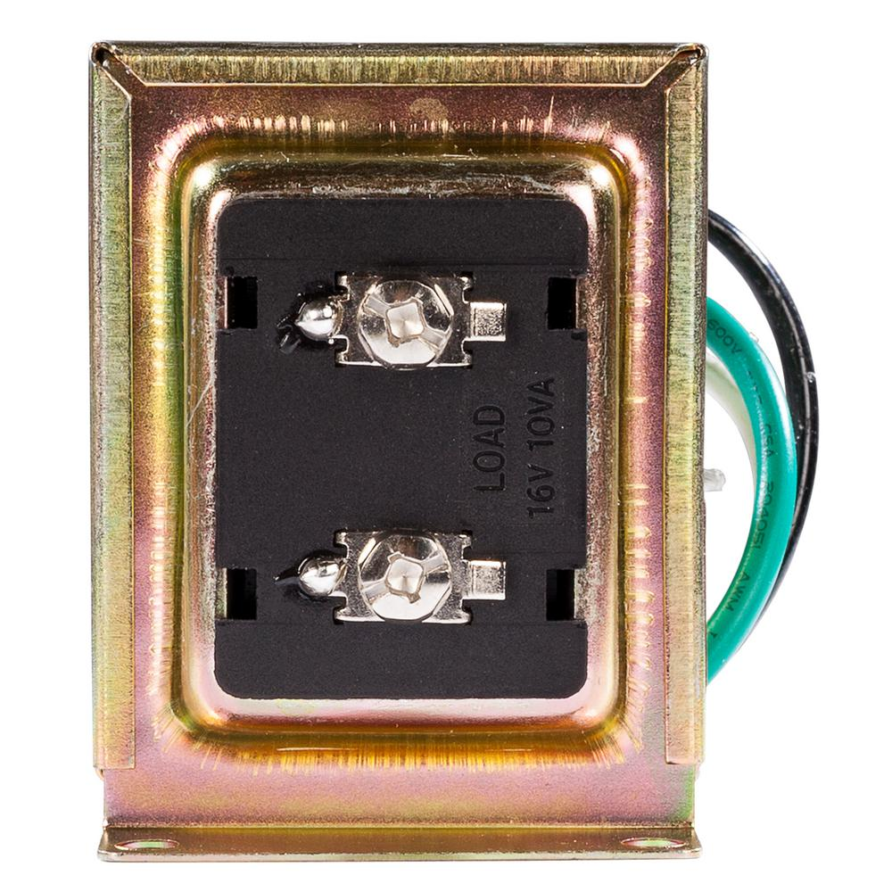 Hampton Bay Wired Door Bell 16 VAC Transformer-HB-122-03 - The Home ...