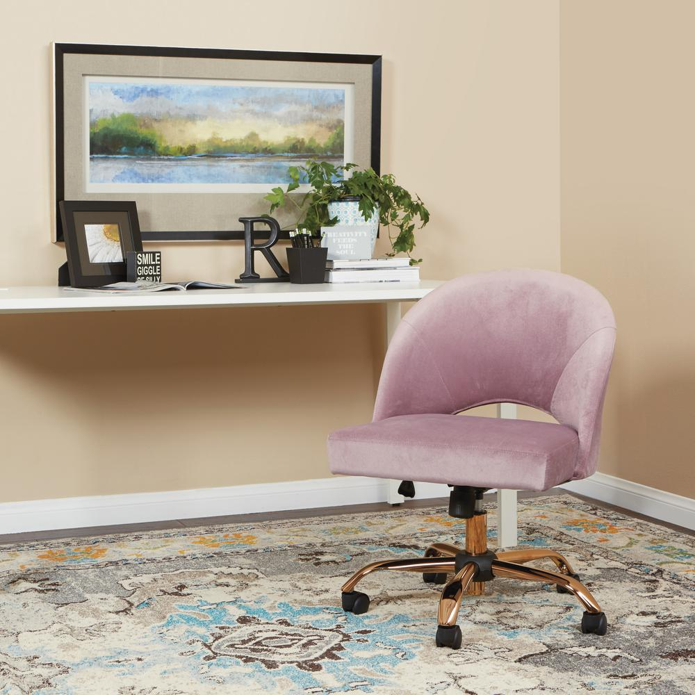 Terrific Ave Six Luasa V7 Lula Office Chair In Mauve Fabric With Rose Ibusinesslaw Wood Chair Design Ideas Ibusinesslaworg