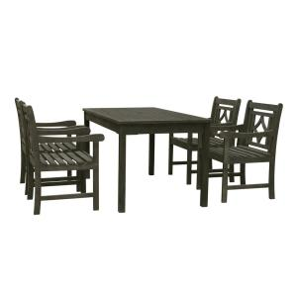 Renaissance 5-Piece Wood Outdoor Dining Set