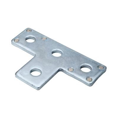 4-Hole Silver Galvanized Strut T-Bracket with Magnets (Case of 10)
