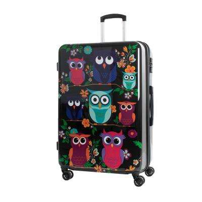 Owls 28 in. Polycarbonate Expandable Spinner Luggage with TSA Lock