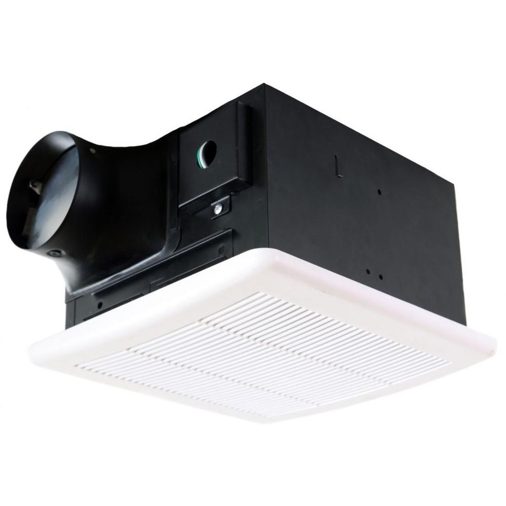 Nuvent 50 cfm ceiling mount high efficiency bathroom exhaust fan nxms503es the home depot for Exterior mounted exhaust fans for bathroom