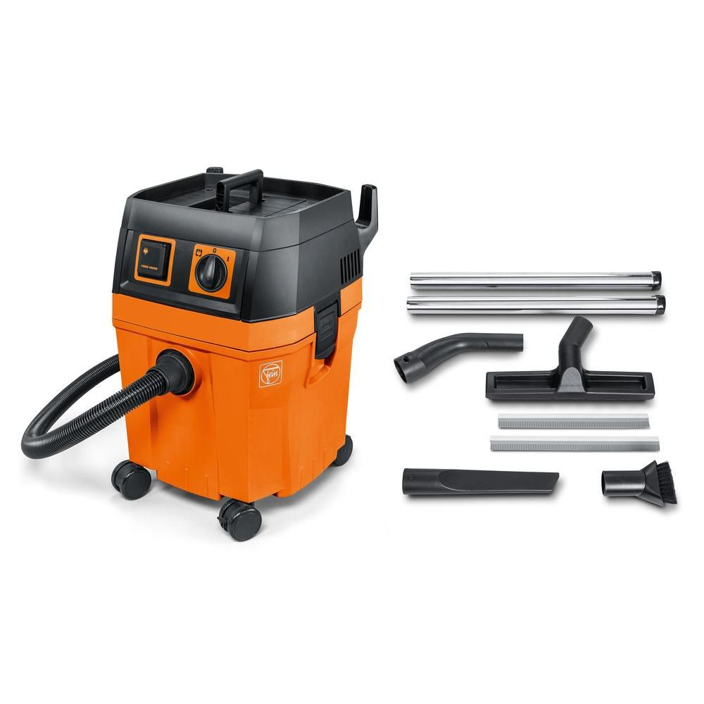 FEIN Turbo II 8.4 gal. Dust Wet/Dry Vacuum Cleaner, Oranges/Peaches Sophisticated Professional vacuums. A set that includes the accessories needed for professional applications. Lightweight, robust, incredibly powerful and versatile. Color: Oranges/Peaches.