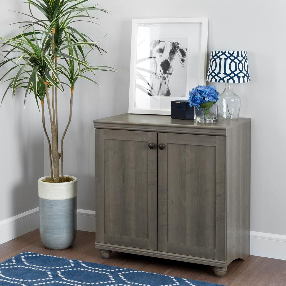Hopedale Gray Maple 2-Door Storage Cabinet