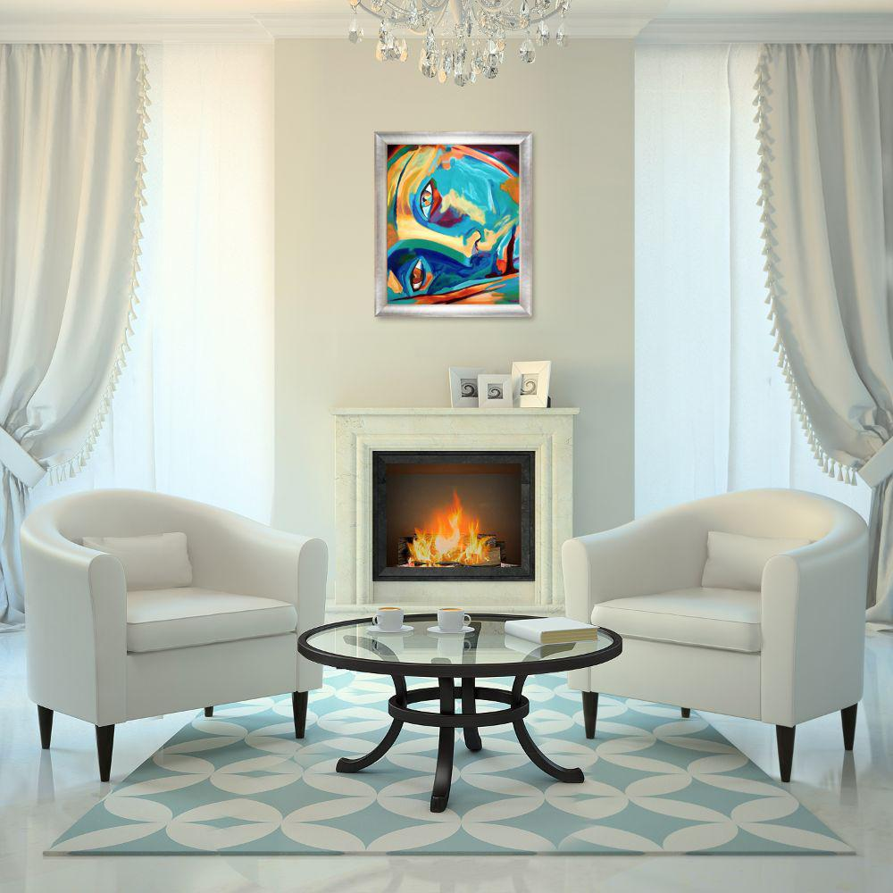 ArtistBe 24 in. x 28 in. Doorway to the Heart II Reproduction with Spencer Rustic  by Helena Wierzbicki Framed Wall Art, Multi-Colored was $820.0 now $385.94 (53.0% off)