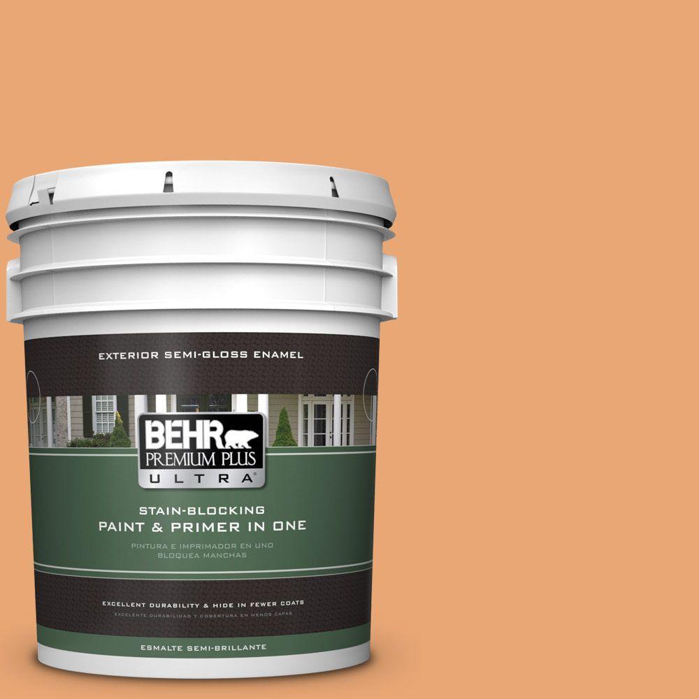 5-gal. #M230-5 Sweet Curry Semi-Gloss Enamel Exterior Paint