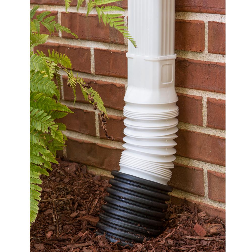 Flex A Spout 2 In X 3 In White Downspout Adapter Adp53229 The Home Depot
