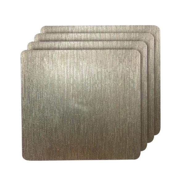 Galaxy Champagne Metallic Square Placemat (Set of 4)
