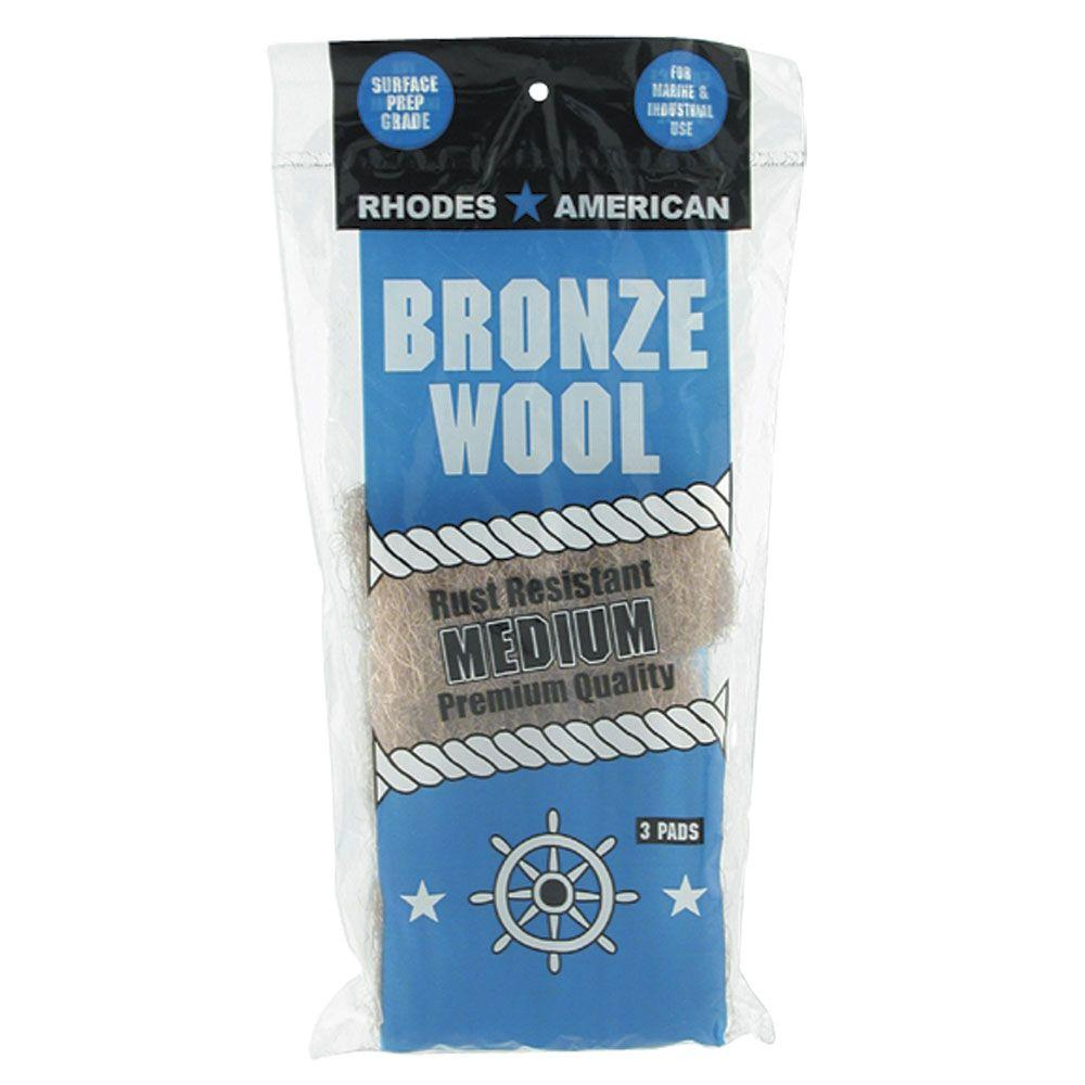 Homax Medium-Grade Bronze Wool Pads (3-Pack)