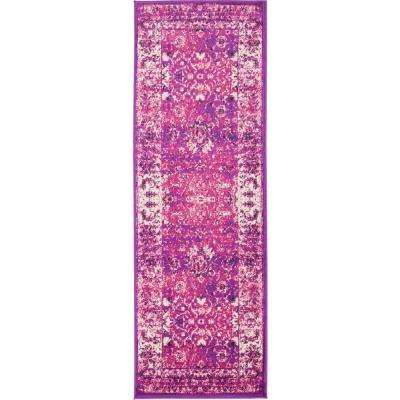 Istanbul Lilac 2 ft. x 6 ft. Runner Rug